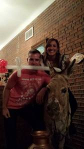 Me, my cousin Drew and the (dead) donkey