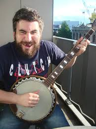 man and banjo